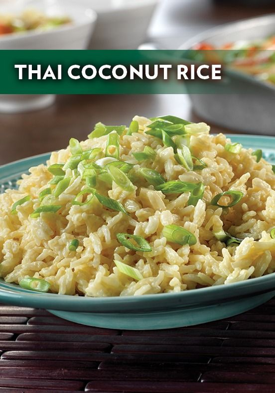 Thai coconut rice, Coconut rice and Rice recipes on Pinterest