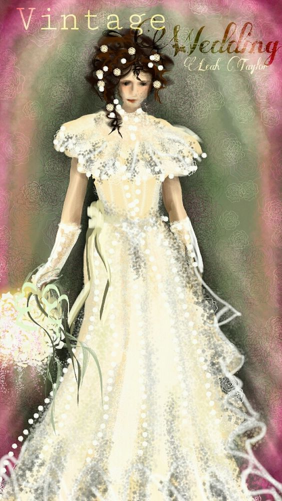 Vintage Wedding by Leah Taylor 19th place in the PicsArt contest #dcfashionsketch See the video @ http://youtu.be/_DXIEGYgjP4 #art #drawing #people #vintage #weddingday