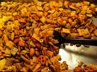 Texas Trash Snack Mix otherwise known as chex mix