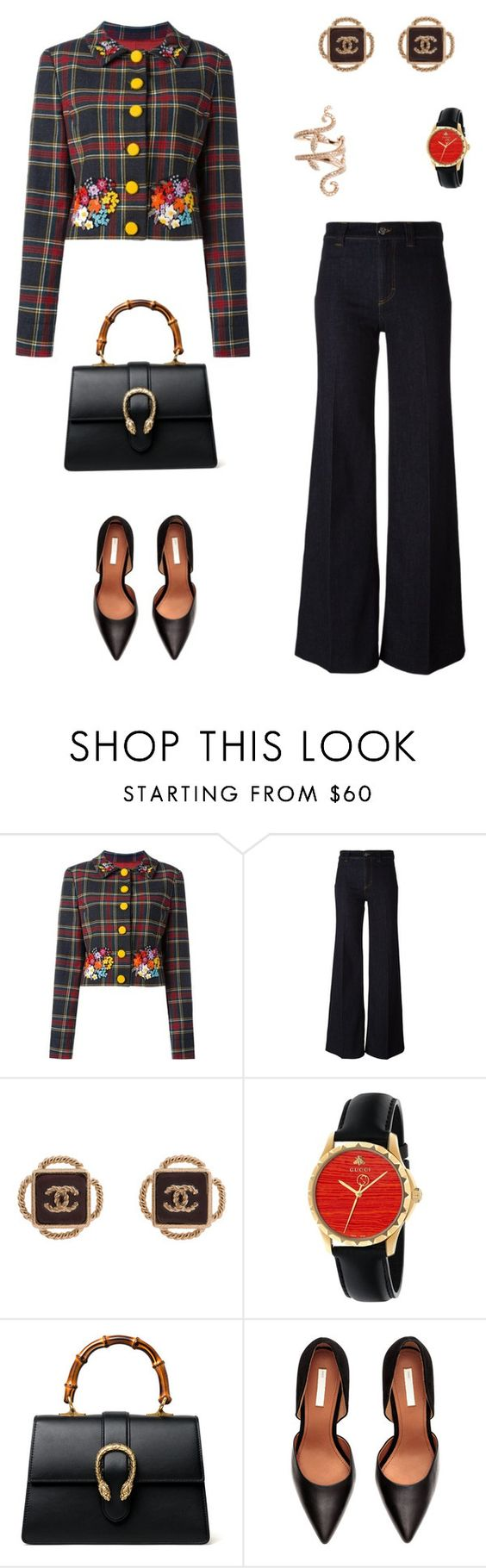 """Untitled #2173"" by bushphawan ❤ liked on Polyvore featuring Moschino, Paul Smith, Chanel, Gucci and Elise Dray"