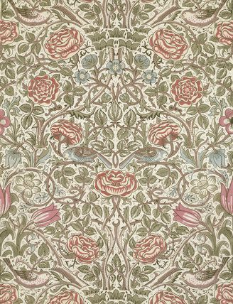 Rose furnishing fabric you can get prints from the v a for Where can you get fabric