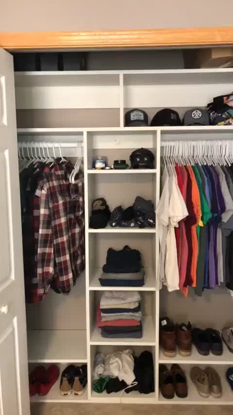 Made Myself A Built In Closet Organizer Total Cost 108