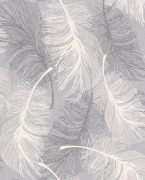 2836 M0923 Alonso Plume Wallpaper Jojo Design Studio Feather Wallpaper Grey Wallpaper Glitter Wallpaper