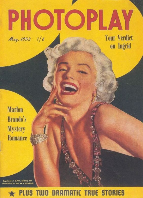 """Résultat de recherche d'images pour """"Marilyn Monroe , Photoplay magazine 1950"""""""