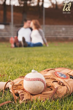 Baseball Engagement Photos