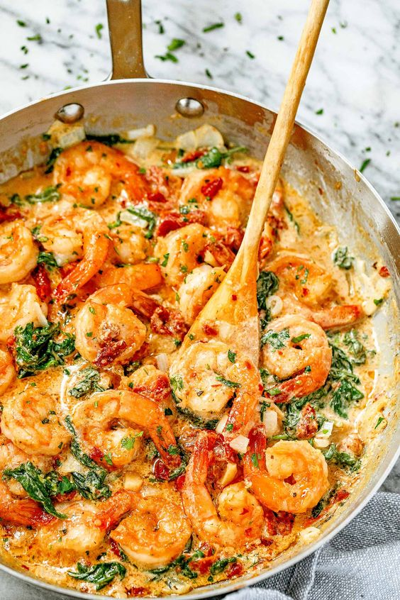 Creamy Garlic Shrimp with Spinach (10-Minute)