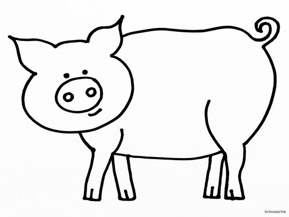 Varkentjes stempelen met peuters | varken kleurplaat peuters | varken knutselen | varken verven | stempelen met kurk