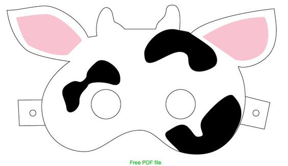 Here is a free printable for a cow mask.