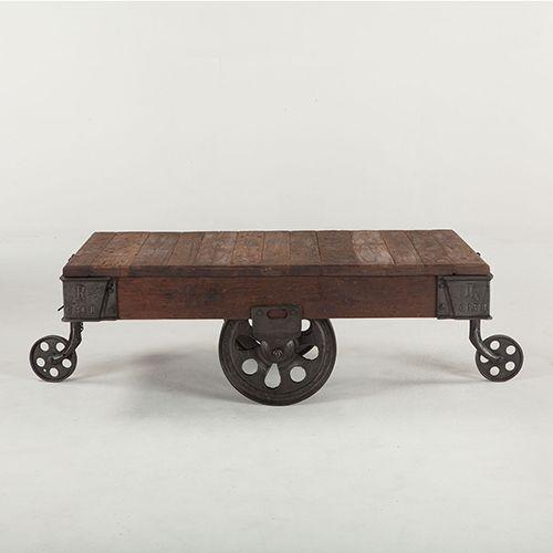 World Interiors Reclaimed Teak 50 Inch Bar Cart Table Zwpx506