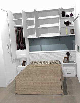Projeto quarto pequeno pesquisa google guarda roupas - Sillones pequenos para dormitorios ...