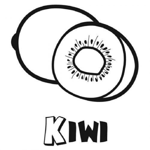 Kiwi Colorear Coloring Pages Lettering Colorful Pictures