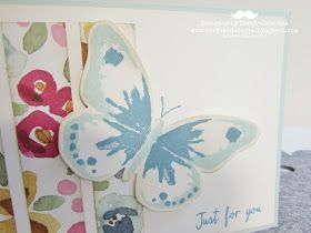 Sarah-Jane Rae cardsandacuppa: Stampin' Up! UK Order Online 24/7: Using Stampin' Up's Watercolour Wings for a Card Class including my TMT Video of Tips for this stamp set.