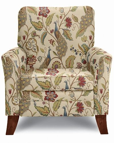 Riley High Leg Recliner By La Z Boy W Premavera Patterned