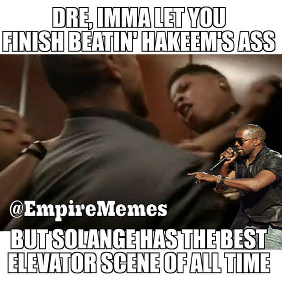 """""""Poor Hakeem gets his ass handed to him every single episode   @yazzthegreatest #HakeemLyon Also follow my other page  @hiphopmemesdaily✌ #KanyeWest…"""""""