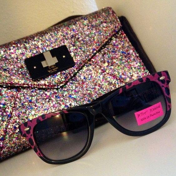"""Spotted while shopping on Poshmark: """"Betsey Johnson Leopard Wayfarer Frame Sunglasses""""! #poshmark #fashion #shopping #style #Betsey Johnson #Accessories"""