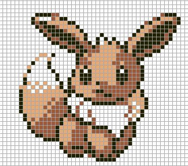 Eevee by hama girl on deviantart minecraft pinterest for Umbreon pixel art template