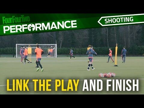 Soccer Shooting Exercise Link The Play And Finish Drill Swan Top Soccer Coach Soccer Drills Football Coaching Drills Soccer Training Drills
