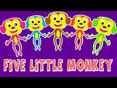 Cinque Scimmiette Saltavano Sul Letto.Cinque Scimmiette Five Little Monkeys Youtube Five Little Monkeys Little Monkeys Five Little