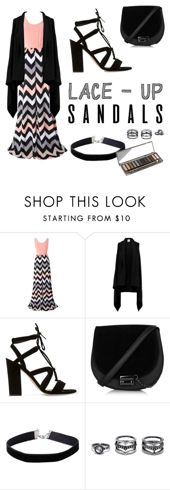 """What do u think of this?.."" by miabellawehri ❤ liked on Polyvore featuring Chicnova Fashion, Madeleine Thompson, Dune, Miss Selfridge, LULUS, Urban Decay, contestentry, laceupsandals and PVStyleInsiderContest"