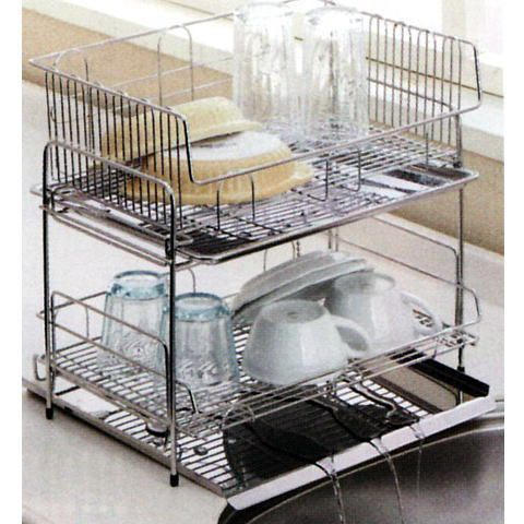 The Water Which Kitchen Rack Drainer Baskets Made Of Two Steps Of