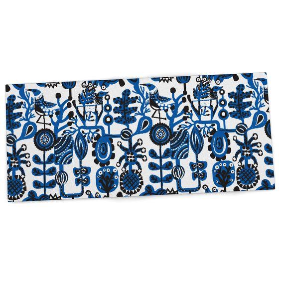 """Agnes Schugardt """"Dream"""" Blue White Desk Mat"""
