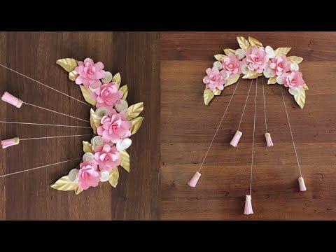 ديكور بجنن طريقة عمل ورد بالورق الملون زينة باب Paper Flower Wall Hanging Easy Wall Decoration Ideas Yout Paper Flower Wall Paper Flowers Hanging Flower Wall