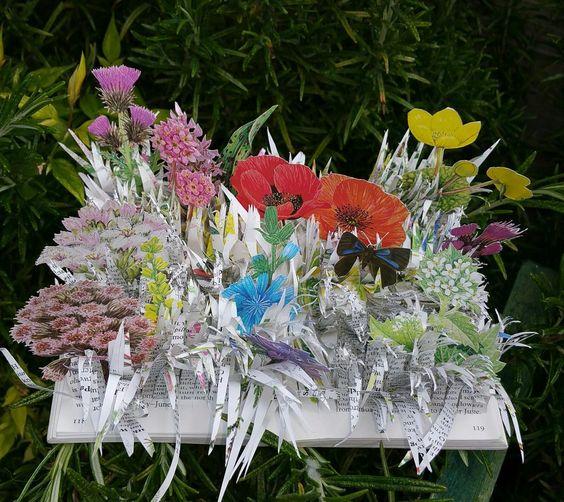 Observers  book of flowers #artistsbooksculpture #bookart: