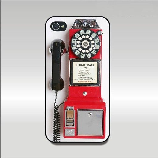 Iphone 4 case--Vintage Payphone,iphone 4S case
