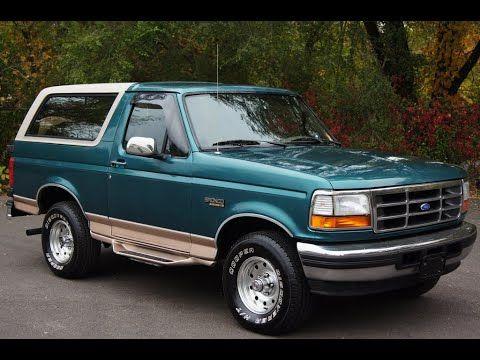 1996 Ford Bronco Eddie Bauer 4wd Light Blue Slideshow In 2020