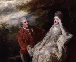 David Garrick; Eva Maria Garrick (née Veigel)  by Sir Joshua Reynolds  oil on canvas, 1772-1773