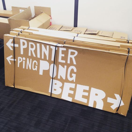 Temporary office signage