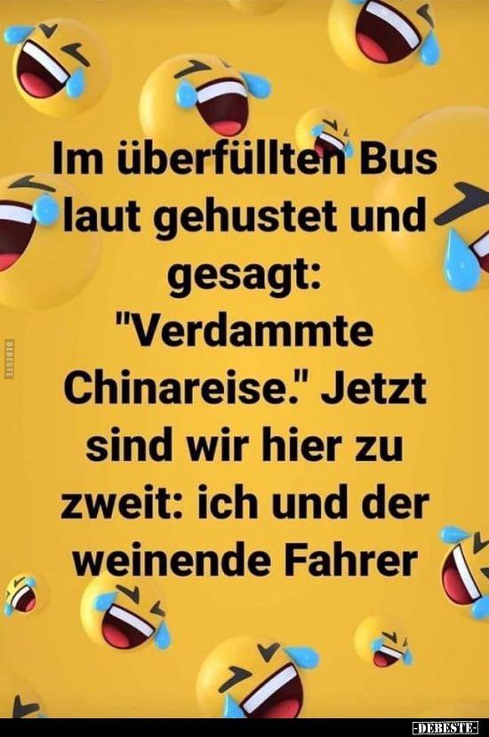 Im Uberfullten Bus Laut Gehustet Und Gesagt In 2020 Witze
