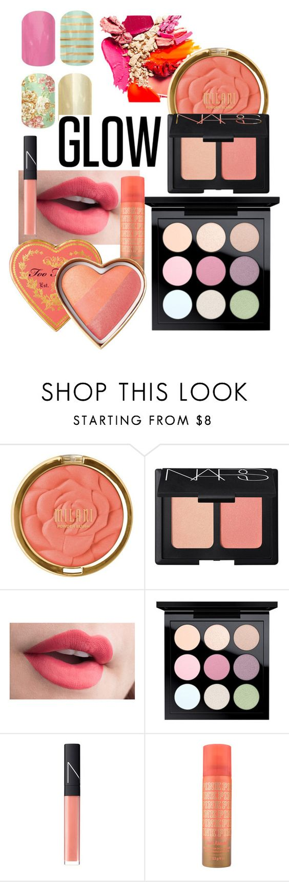 """Spring has Sprung"" by heather-harmon-i ❤ liked on Polyvore featuring beauty, Milani, NARS Cosmetics, MAC Cosmetics and springglow"