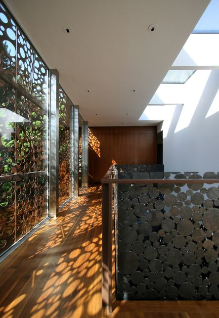 This Home Uses A Perforated Cor Ten Weathering Steel
