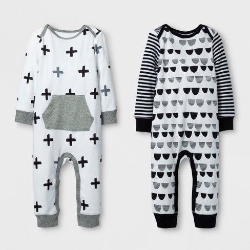 Baby Will Look Simply Adorable When Dressed In Either Of The Options In This 2 Pack Coverall Set From Gender Neutral Baby Clothes Baby Boy Outfits Cloud Island