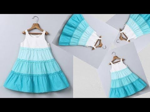 Diy Designer Ruffled Baby Frock For 5 To 6 Year Full Tutorial Youtube Baby Frocks Designs Baby Dress Patterns Girls Dress Sewing Patterns