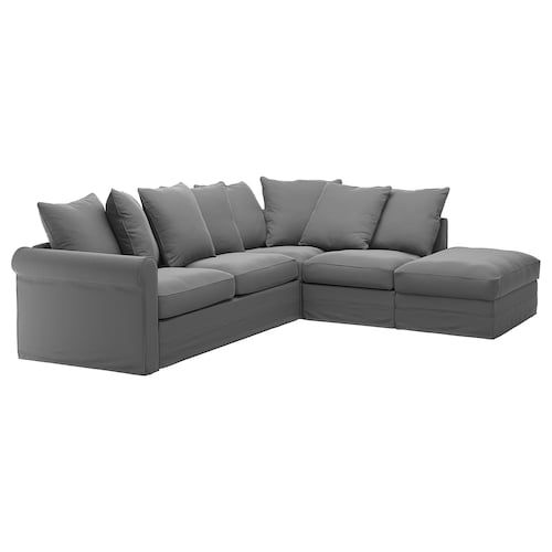 Gronlid Corner Sleeper Sofa 4 Seat With Open End Sporda Natural Housse Canape Canape Angle Canape Lit Angle