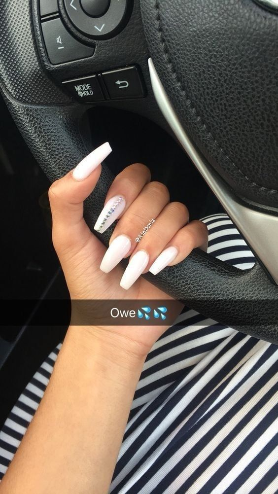 76 Most Stunning And Trendy Coffin Nail Designs In 2019 Page 31 Of 76 Pinningfashionpinningfashion Nails Now White Acrylic Nails Fun Nails