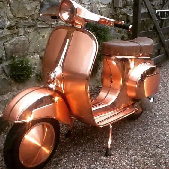 Vespa Smallframe Custom Primavera 007 Alchemy Scooters delivery UK & EU | eBay