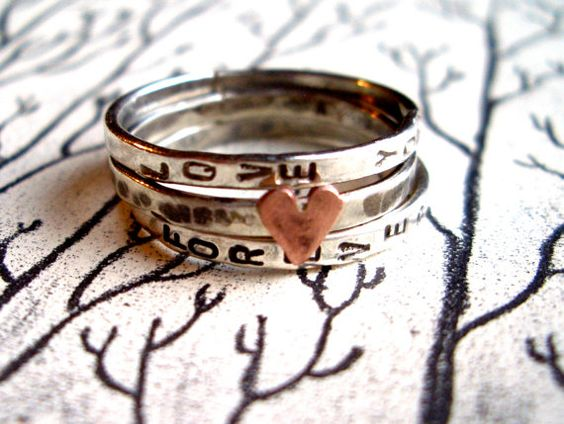 Love Isstacking Bands In Sterling Silver Hand By Tarnishedandtrue