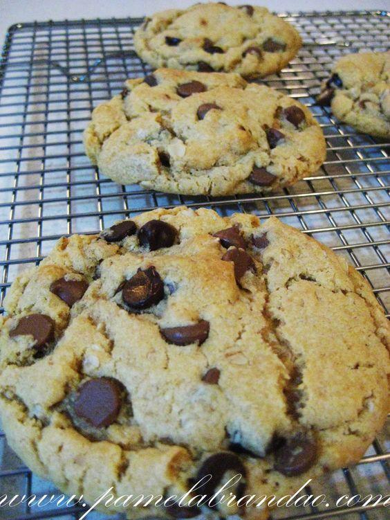 Cookies de Manteiga de Amendoim e Aveia