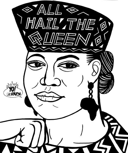 Queen Latifah by Ted's Draws