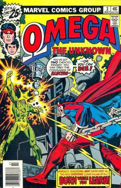 Omega the Unknown comic book cover photos, scans, pictures - #1 ...
