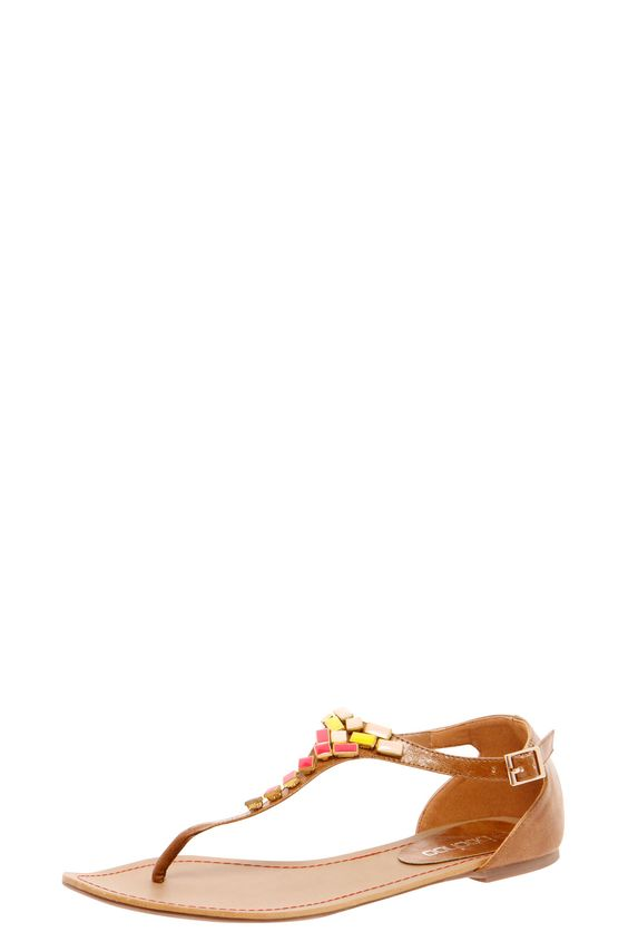 Tamara Multicoloured Stone Toe Post Gladiator £22.00