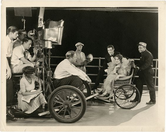 Norma Shearer behind the scenes.