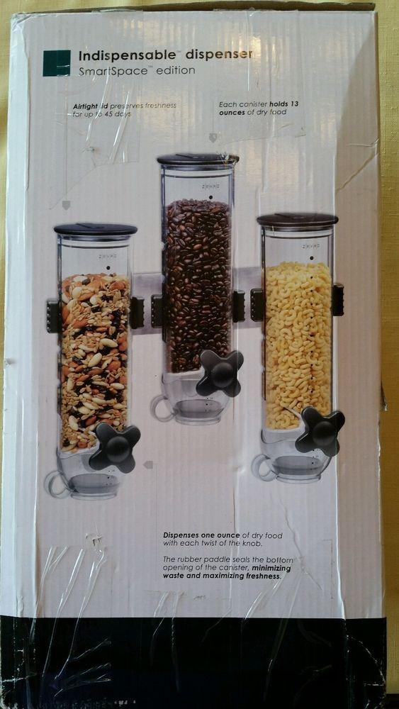Zevro 13 Oz. Triple Canister Smart Space Dry Food Dispenser #Zevro