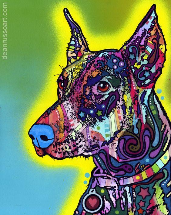 Doberman by Dean Russo. $20.00 #pitbull #dogparkpublishing http://www.dogparkpublishing.com/product_info.php/doberman-print-p-621