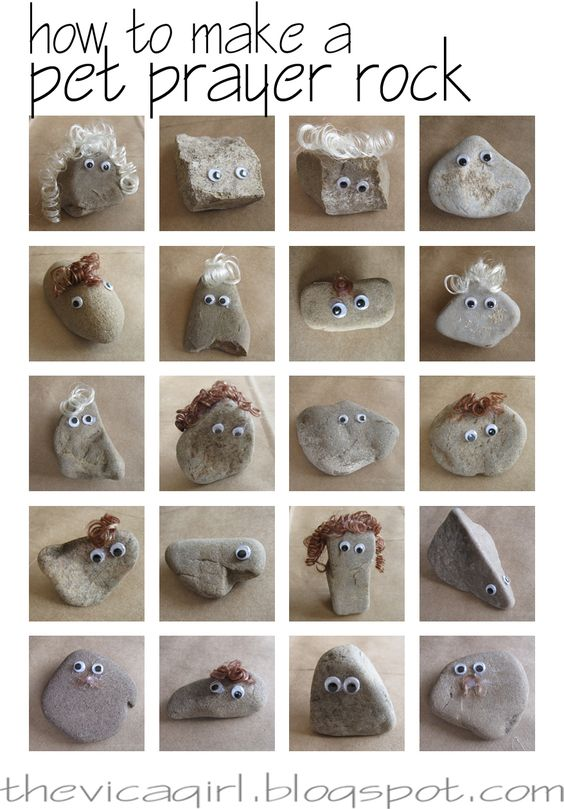 how to make your own pet prayer rock - things i green and do not green