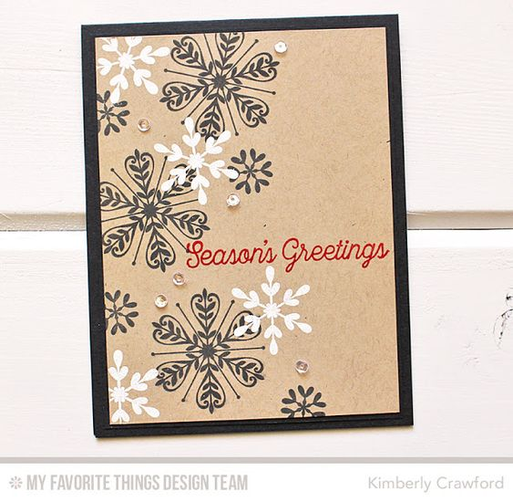 For the Love of Paper: MFT Stamps Snowflake Sparkle Kit now available!: