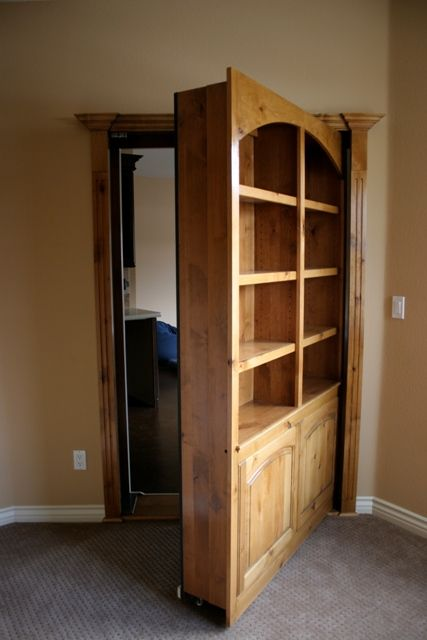 B wants a secret door that leads to his comic book for Secret storage bookcase